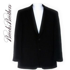 BROOKS BROTHERS Black Wool Suit Jacket Sz 40R